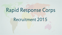 Rapid Response Co[rs recrutiment 2015