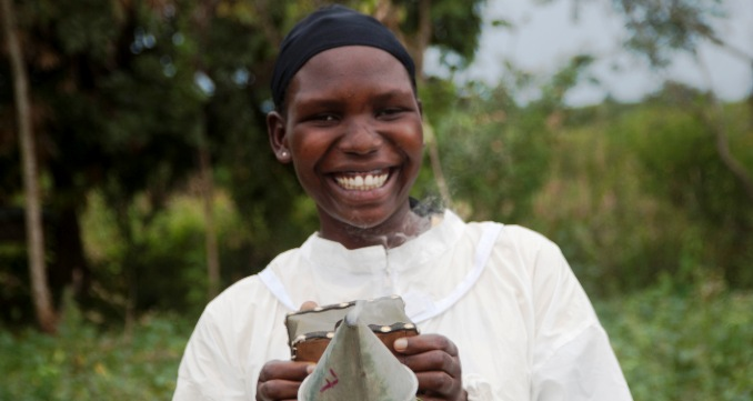 Patricia Adele, Beekeper from Bohopa Beekeeper Association, Bukadea, Central Uganda. Photo: Self Help Africa