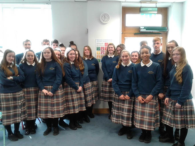 Students from Coláiste Cois Life, Lucan