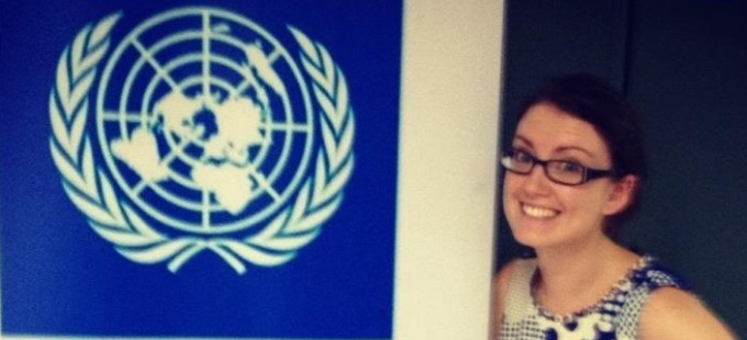 Suzanne Byrne during her time as an Irish Aid sponsored UN Youth Volunteer
