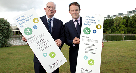 Minister Flanagan & Minister Sherlock open the Irish Humanitarian Summit 2015, UCD Dublin