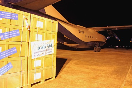 Irish Aid stocks being dispatched from UNHRD hub in Brindisi, Italy to Bosnia and Herzegovina to assist those affected by severe flooding. Photo: WFP