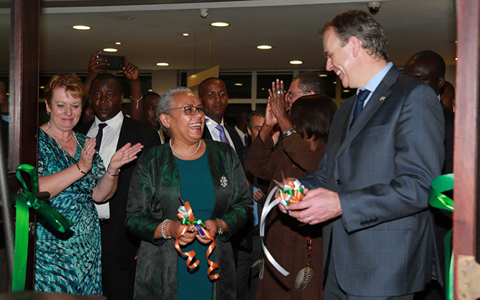 First Lady Kenyatta and Minister McHugh open the 100 Years Exhibition. Photo Credit: Brian Inganga