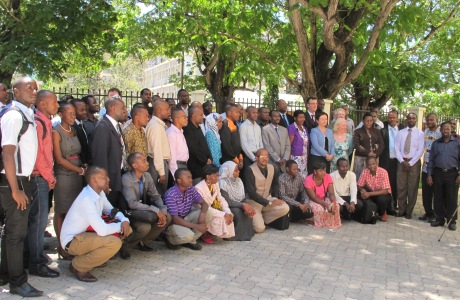 Group photo of participants in Tanzania's first ICT Summit, November 2013. Photo: Embassy of Ireland, Tanzania