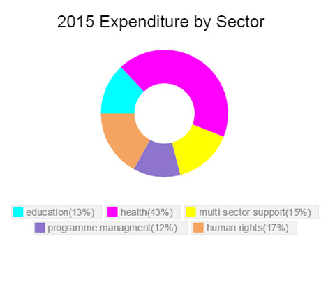 Expenditure by sector Sierra Leone 2015
