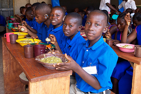 As part of Irish Aid's two year strategy for Sierra Leone, we have been supporting school feeding programmes with much success.