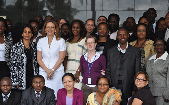 A visit from the UNDP Associate Administrator, Rebecca Grynspan to UNDP Zambia