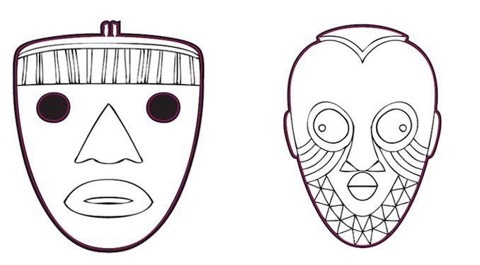 africa day masks