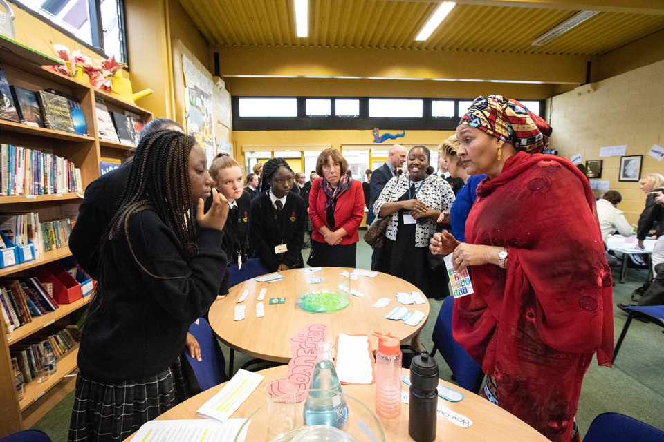 Visit of UN Deputy Secretary General Ms Amina Mohammed to Deansrath Community College, Clondalkin